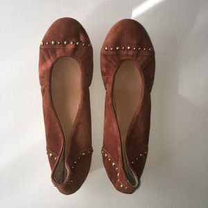 J Crew suede studded flats